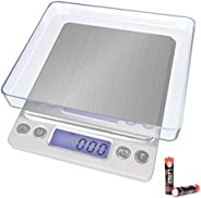 Kitchen Scale,Digital Pocket Food Scale,ShowTop Multifunction with LCD Display, 3000g/ 0.1g for Home Cooking,
