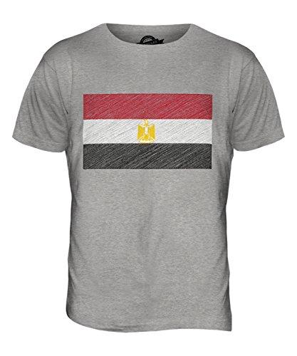 CandyMix Ägypten Kritzelte Flagge Herren T Shirt Grau Meliert