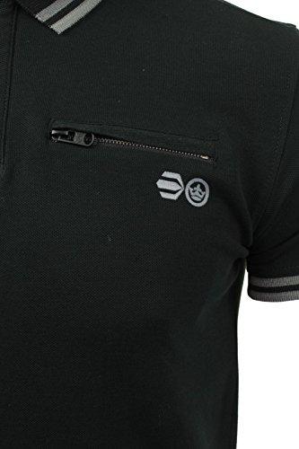 CrossHatch Herren Polo T-Shirt von Crazer' Kurzärmlig Schwarz