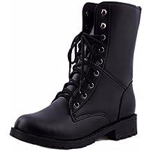 Amlaiworld Bottes Femme, Bottes Militaires de Combat de l armée Noire f76a99bc3c0c