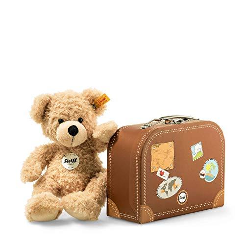 Steiff 111471 - Teddybär Fynn, beige, ca. 28 cm, mit Koffer