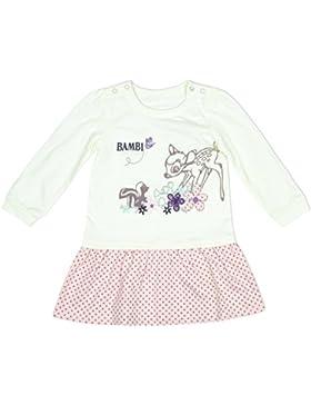 Mädchen Baby Disney Bambi & Freunde langärmliges Kleid Größen von Neugeborene bis 18 Monate