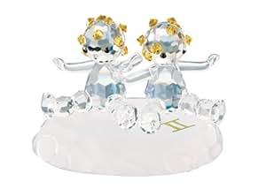 - zodiaque gémeaux-haute qualité en cristal de Bohême-Figurine-Dimensions :  55 x 40 mm - 083661