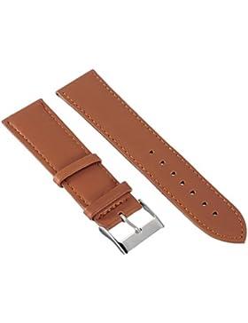 22mm Hellbraun PU Leder Uhrenarmband Uhrband Uhrenarmbaender Uhr Armband Watch Strap