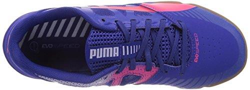 Puma - Evospeed Sala, Scarpe da calcio Unisex – Adulto Blu (Blau (clematis blue-bright plasma-gray dawn 08))