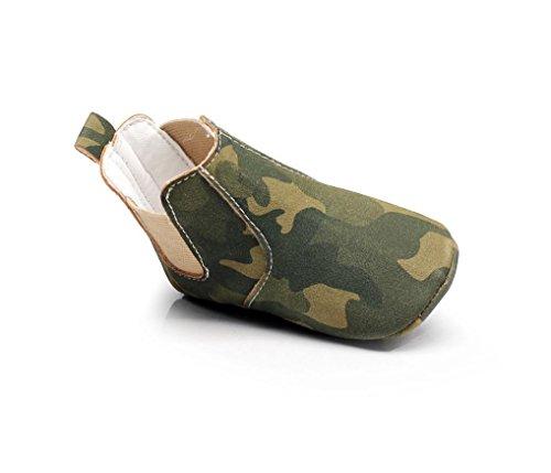 Babyschuhe Longra Neugeborene Baby Mädchen Jungen Krippe Weiche Sohle Anti-Rutsch Baby Camouflage Sneakers Stiefel Schuhe Green