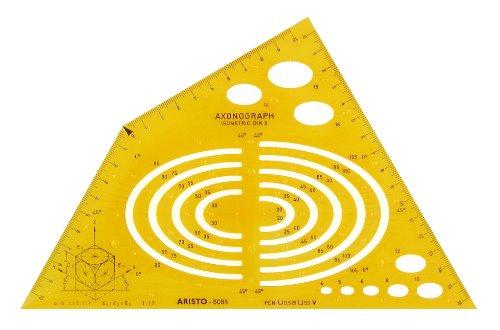Aristo AR5088 - Plantilla para perspectiva axonométrica