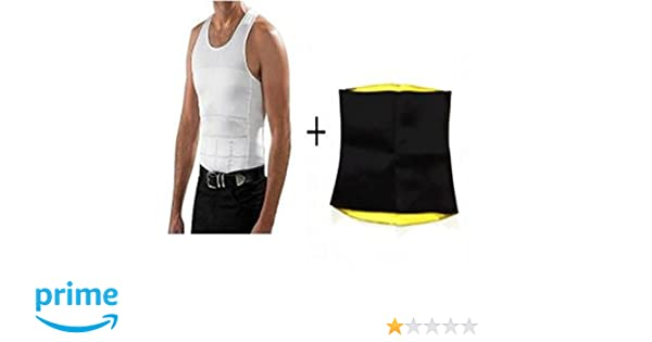 ab7a529287 SWEET SWEAT WAIST TRIMMER® Men S Vest (Pack Of 2)  Amazon.in  Clothing    Accessories