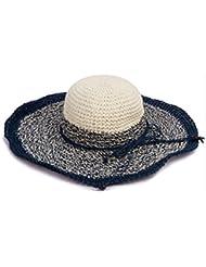 Kylin Express Casquette été pliable chapeau de soleil Plage Femme Bleu Couleur Crème