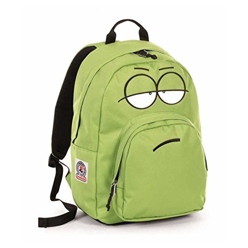 (Rucksack Americano Wild Lime Ollie Face Plain Color Invicta)