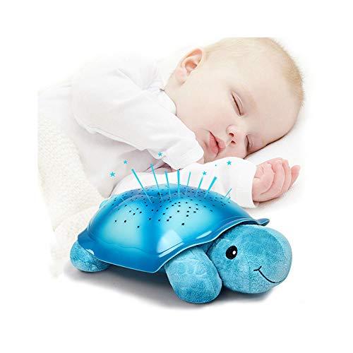 Zhang proiettore stelle bambini, 360° rotazione musicale proiettore lampada con lo schermo led e telecomando, 8 modalità romantica luce notturna, regalo per neonati, bambini
