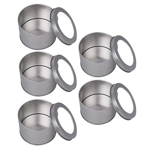 Runde Metall Leere Keksdose Gebäckdose tragbar Behälter Blechdosen Leere Dosen mit Deckel ()