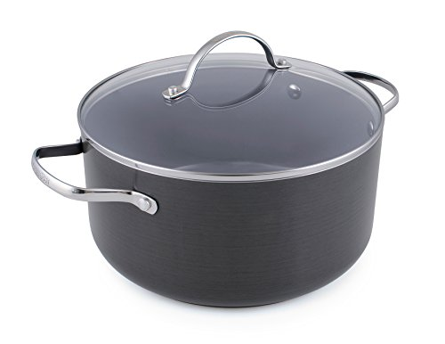 GreenPan, Venice, Hard Anodised Ceramic Non-Stick 24cm Casserole with Lid, 5.1L