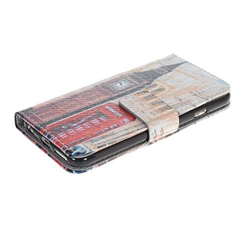 MOONCASE Coque en Cuir Portefeuille Housse de Protection Étui à rabat Case Pour Apple iPhone 6 ( 4.7 inch ) 08