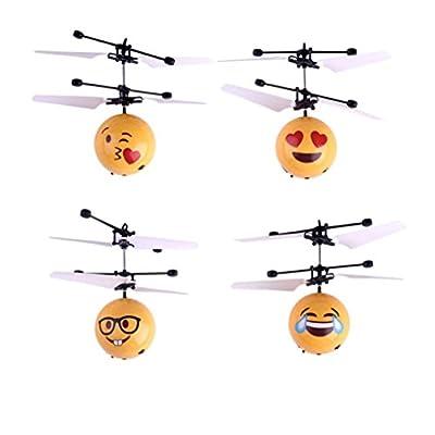 QUINTRA Handfliegen Emoji Ball LED Induktion Suspension RC Flugzeug fliegen Spielzeug Drone von QUINTRA