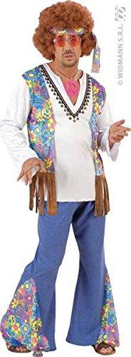 woodstock hippie Fancy Dress Costume-Men's-Size s (Men's Woodstock Kostüme)