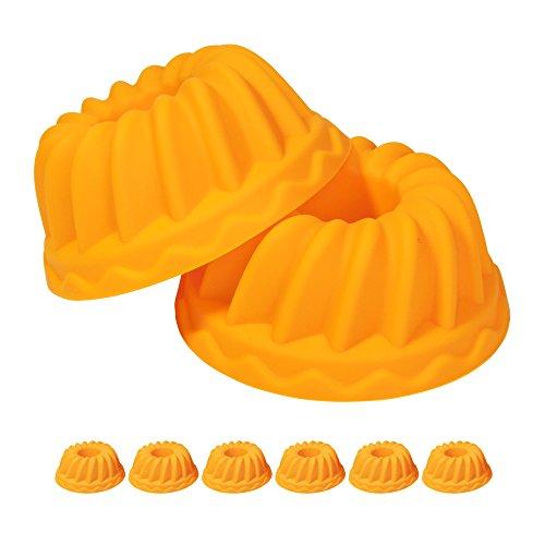 Silikon-cupcake-kuchen-form (Oishii Mini Gugelhupf Kuchen-Form aus Silikon, Set für 6 Cupcakes)
