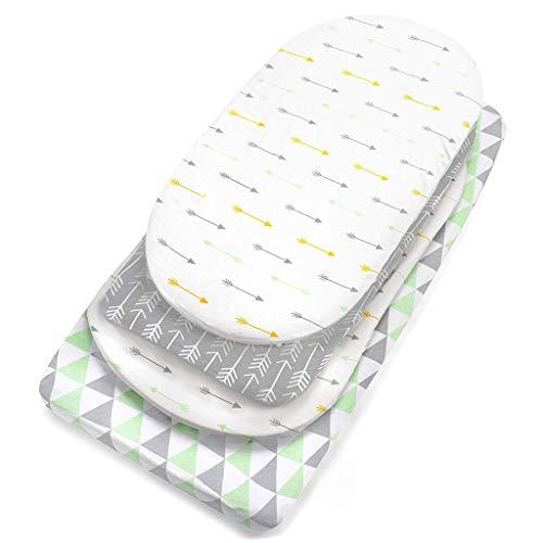 LHWY 3PC Soft Baby Stubenwagen Set Wiege Spannbetttücher für Matratzenauflagen Sleeper Cover - Soft-sleeper