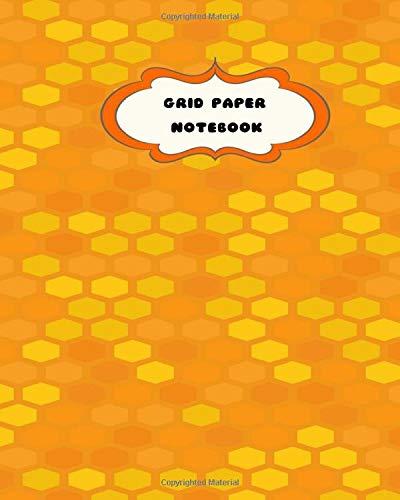 Orange 8x10 Bereich (Grid Paper Notebook: Orange Beehive Pattern-8 x 10