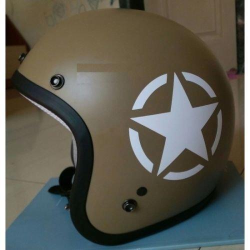 DELHI TRADERSS Vinyl Star Sticker for Bike Helmet (White)
