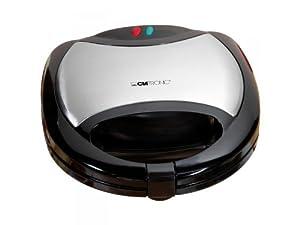 Clatronic 261640 ST/WA 3170 3-in-1 - Sandwichera 3 en 1 (con función de gofres y de grill), color negro de Clatronic