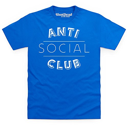 Anti Social Club T-Shirt, Herren Royalblau