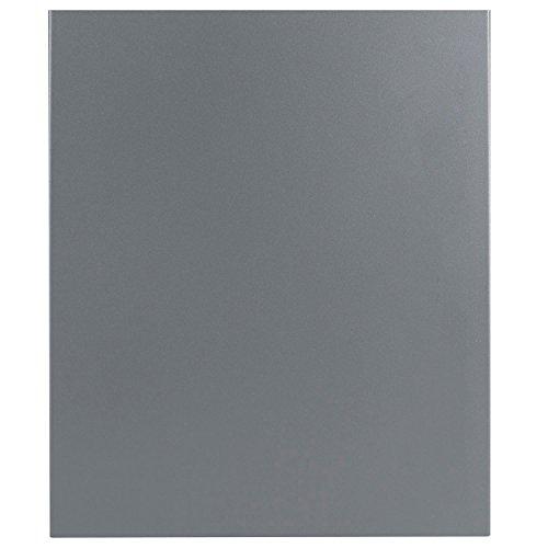 Design-Briefkasten mit Zeitungsfach 12 Liter grau-aluminium (RAL 9007) MOCAVI Box 111 Wandbriefkasten Postkasten Zeitungsrolle - 3
