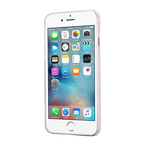 HB-Int 3 en 1 Housse TPU Etui pour Apple iPhone 6 / iPhone 6S (4.7 pouces) Neuf Motif Coque Gel Silicone Souple Couverture Légère Slim Flexible Coque Protecteur Fonction Anti Choc Anti Rayure Étui + 1 Pourpre + Bleu