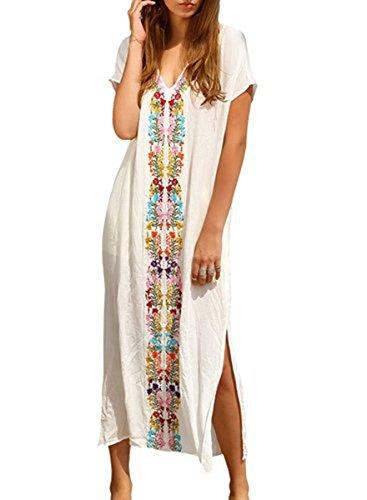 Jastore®Türkisch Damen Strandponcho Sommer Kleid Überwurf Kaftan Strandkleid Bikini Tunika Cover Up