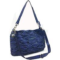 bad8647cd4 Oruil Sheepskin Leather Satchels For Women Soft Wrinkles Stitching Lady  Handbag Shoulder Bag With Double Adjustable