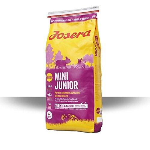 JOSERA MiniJunior (5 x 900 g) | Welpenfutter für kleine Rassen mit Ente und Lachs | für eine optimale Entwicklung | Super Premium Trockenfutter für wachsende Hunde | 5er Pack