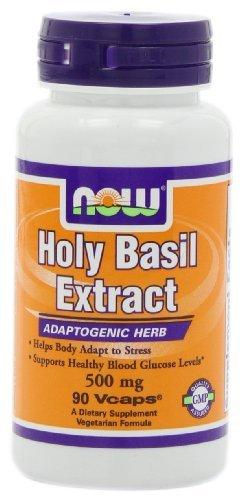 Now Foods | Holy Basil Extract | 500 mg | 90 vegane Kapseln | glutenfrei
