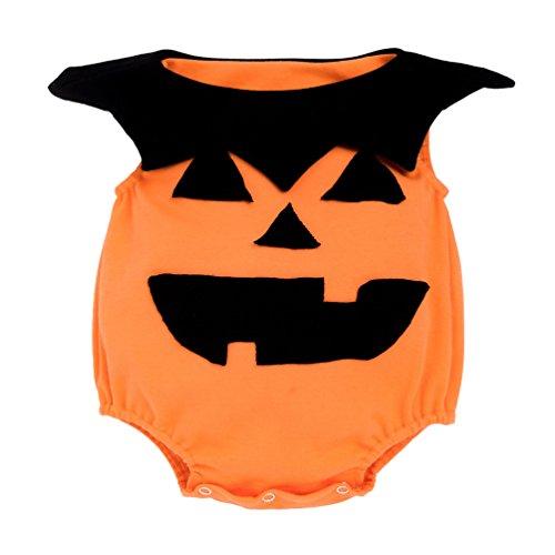 Anguang Baby Jungen Mädchen Kürbis Body Strampler Overall Weihnachten Halloween Kostüm Jumpsuit Als Bild (Bilder Herren 80's Kostüm)