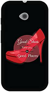 The Racoon Lean Good shoes hard plastic printed back case / cover for Moto E