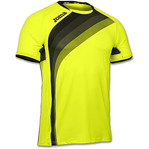 Joma - Camiseta elite v amarillo fluor m/c para hombre