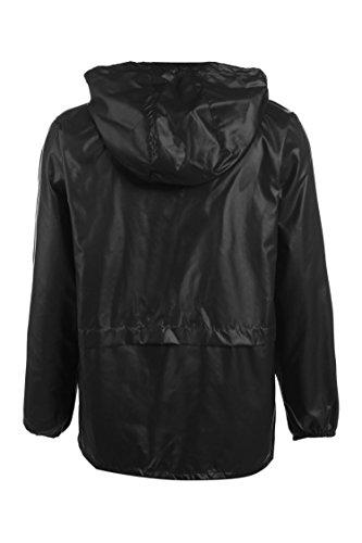 begorey Schnell Trocknend Atmungsaktive Wind- und Wasserabweisende Funktionsjacke Geringes Gewicht Regenjacke Schwarz