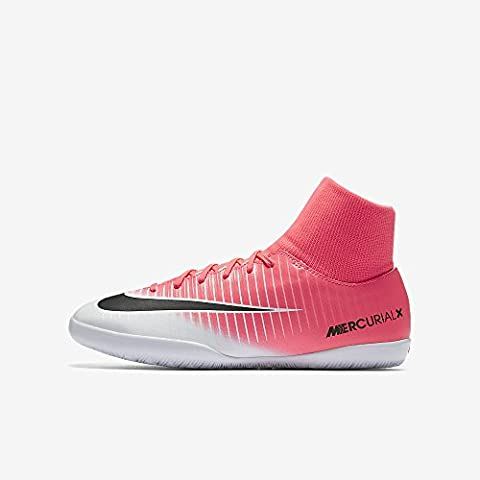Nike Unisex-Kinder Jr Mercurialx Victory VI DF IC Fußballschuhe, Pink (Racer Pink/Black-White-White), 36 EU
