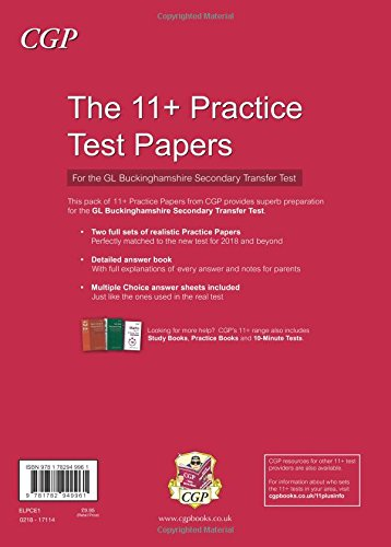 Buckinghamshire 11+ GL Practice Papers for the Secondary Transfer Test - New for 2018