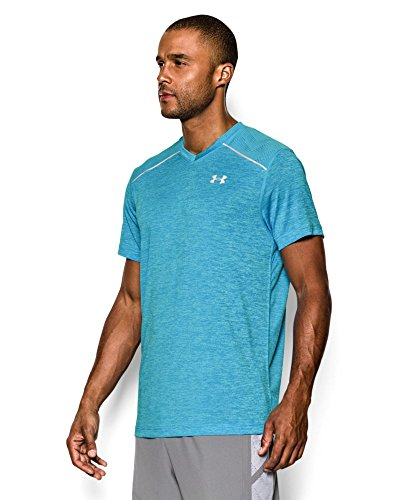 Under Armour Herren Running-Shirt/Kurzarm Armourvent Launch Short Sleeve Tee Island Blues / Island Blues / Reflective