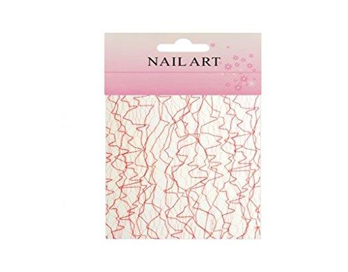 Toile d'araignée nail art ongles design - Rose - REF1974