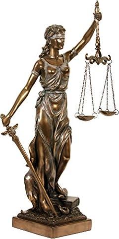 Sculpture: Justitia. bronzé