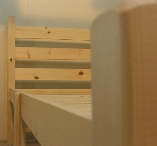 Double pine bed with FOUR storage drawers- Heavy Duty for adult use - 4ft small double solid pine wooden bed frame