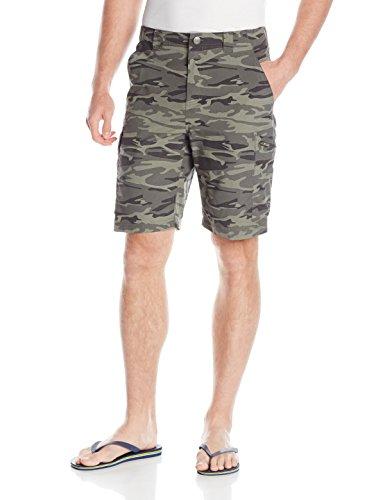 Columbia, Pantaloni corti Uomo Silver Ridge, Verde (Gravel Camo Print), L