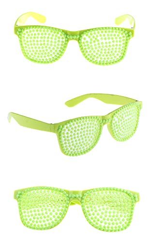 Funny Fashion Neon Party Brille zum Kostüm Rockstar -