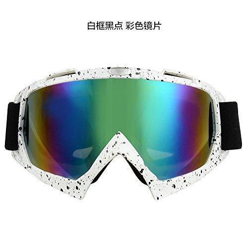 Hors-route moto windproof lunettes de ski,case rouge-couleur des verres transparents