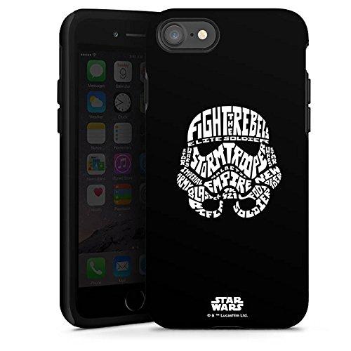 Apple iPhone 8 Plus Hülle Case Handyhülle Star Wars Merchandise Fanartikel Storm Trooper Typo Tough Case glänzend