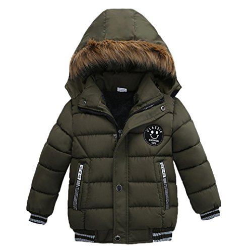 Wanshop For 2-5 Years Old Kids Coats, Fashion Kids Coat Boys Girls Thick Coat Padded Winter Jacket Clothes Children Clothes (3T, Green)
