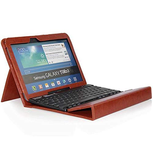 Bluetooth Deutsche Qwertz Tastatur mit Hülle für Samsung Galaxy Tab 3 10,1