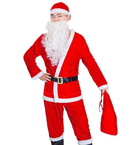 (DUBAOBAO Weihnachtsmann-Kleidung für Jungen und Mädchen, Weihnachts-Outfits, geeignet für Weihnachtsveranstaltungen und Themenpartys,Men)