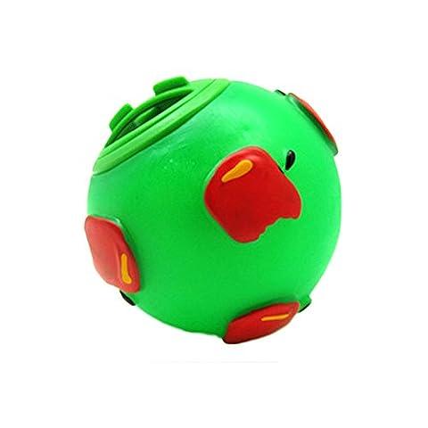 petfun Neue süße runde Ball Interessante Lebensmittel Spender für kleine Hunde, Grün